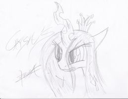 Speed Drawing - Queen Chrysalis by Xeirla