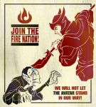 Fire Nation propaganda poster by jdeberge