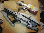 Turian Phaeston and Star Lord's Pistol by bobsideways
