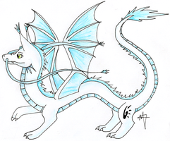 Mizu The Easern winged Dragon by Myklor
