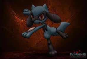 my first Riolu drawing by MetaDragonArt