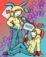 Plusle And Minun by PH3ON1X