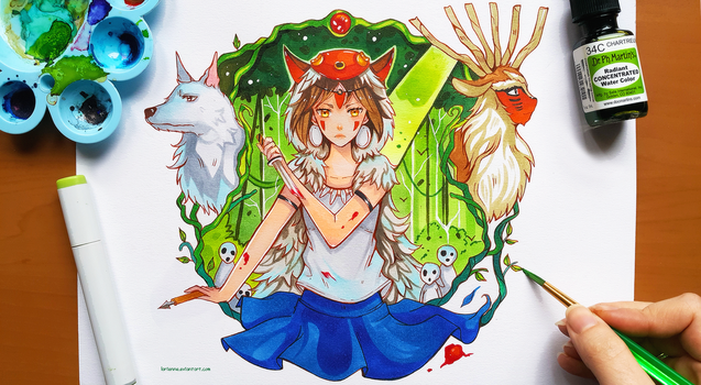 +Princess Mononoke+ by larienne