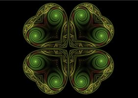 Four leaf Clover by purple-whirlpool
