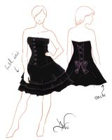 strapples button dress by kthrina