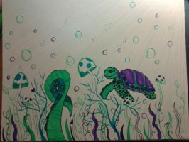 Sea Turtle Dreams by queenofcreeps