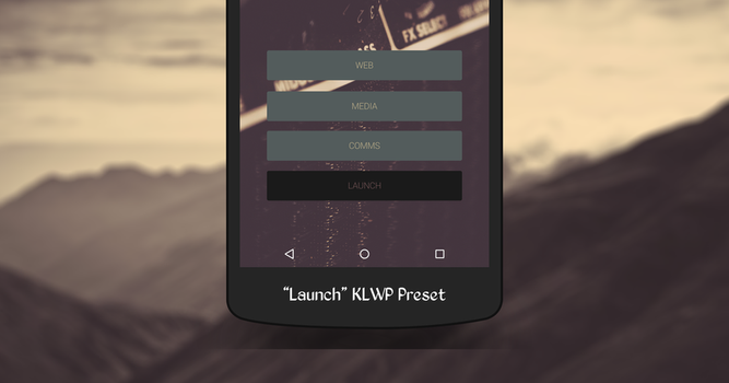 Launch KLWP Preset by MidwestCrusader