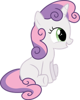 Sweetie Belle Sitting by StarshineCelestalis