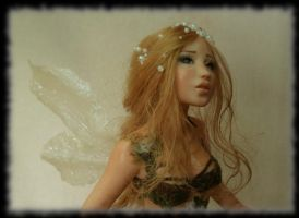 14 Spring Fairy sculpture ooak, 1 inch head by Rosen-Garden