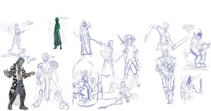 MLP Humanized Sketches (been a while) by tofutiles