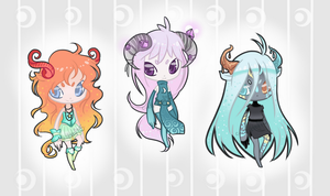 :Adopts: Dream Sheep Batch 22 -CLOSED- by oddlittleleaf