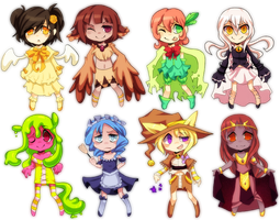 Chibi Adoptables Batch 2 (Closed!) by Sandette