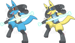 +448 - Lucario+ by Cachomon