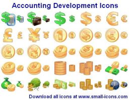 Accounting Development Icons by Ikonod