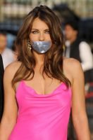 Elizabeth Hurley tape gagged by ikell