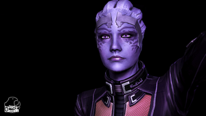 Mass Effect A new species of Asari by FREEDUNHILL
