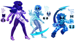 Commission: Ghoul Moonstone Fusions by prpldragonart