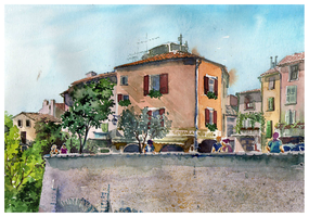 France in watercolors by guni03