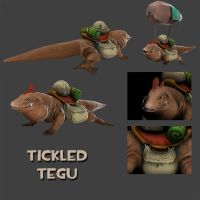 DOTA 2 - Tickled Tegu by Ragnarokdragon