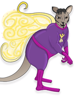 Superhero Drag King Fairy Wallaby by NacoyaFuku