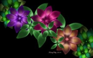 Exotic Flower Vine by karlajkitty