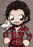 Alcide Herveaux - True Blood by amy-art