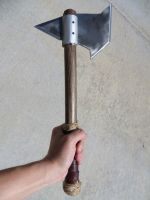 Skyrim inspired one handed steel ax by KevlarKatana