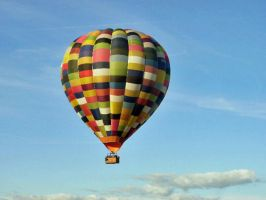 the patchwork hot air balloon by Duckmad