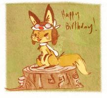 Happy belated birthday WindFoxie :] by Teatime-Rabbit