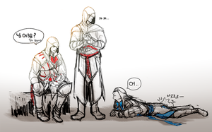 [AC] Ezio,Altair,Connor by lcl920