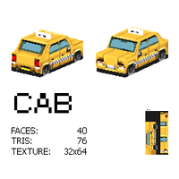 lowpoly cab by kevinvanderven