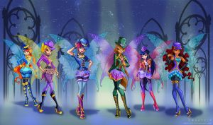 Shimmer in the shadows Winx by Zoratrix