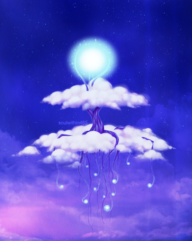 Cloud Tree Island by soulwithin465