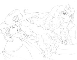 more D and Alucard by hibbary