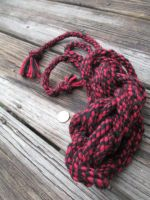 Shibari Rope ( Red and Black Twist ) by user-name-not-found