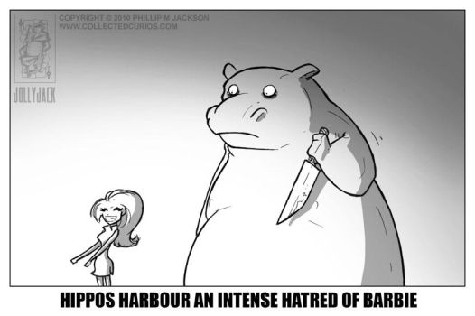 Hippos hate Barbie by jollyjack