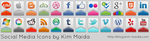 Social Media Icons by KimMaida
