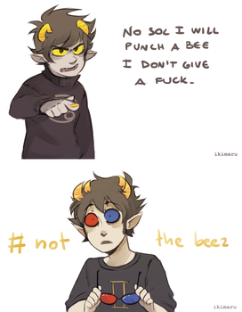 I will punch a bee by ikimaru-art