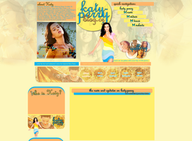 Katy Perry Spring Layout by Lexigraphic