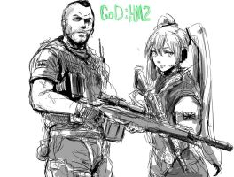 Miku And MW2 by gexlover