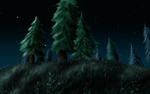 Background - Trees at night WoW by Fragsey