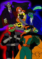 TMNT Halloween by AngelRaiRay