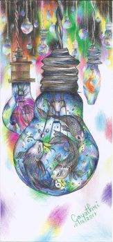 Fish in Bulb by penciggly