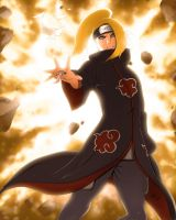 Deidara: Art Is A Bang by Equine-Instinct