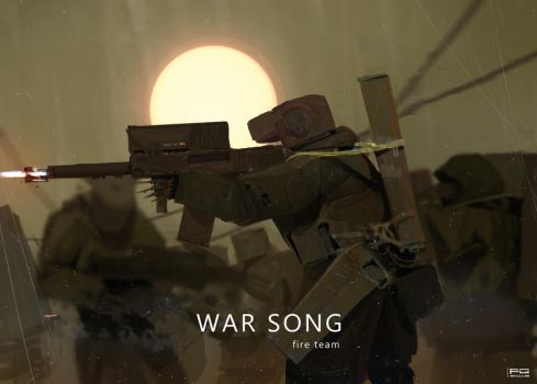 War Song - fire team by ProxyGreen