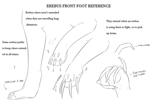 Erebus Front Foot Reference by Irabus