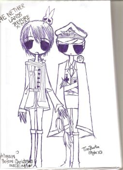 Netherlands and Germany In Tim Burton style XD by HumanIntheMirror