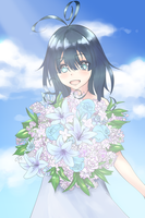DP109: Blue flower, Aoi hana by Floupfloup