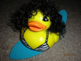 Surfer Girl Rubber Duck by Oriana-X-Myst