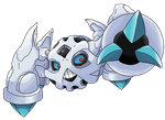Pokemon Fusion: Glalie and Metagross by Waito-chan